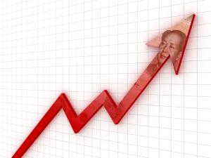 graph depicting China's upward growth trajectory