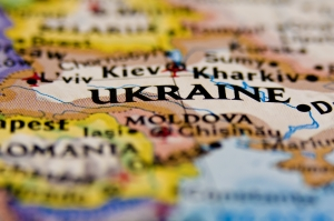 a map showing Ukraine